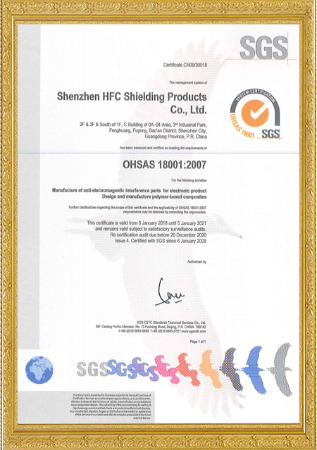 OHSAS18001 SZX10841+IS4