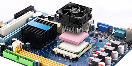 Computer motherboard--thermal silica